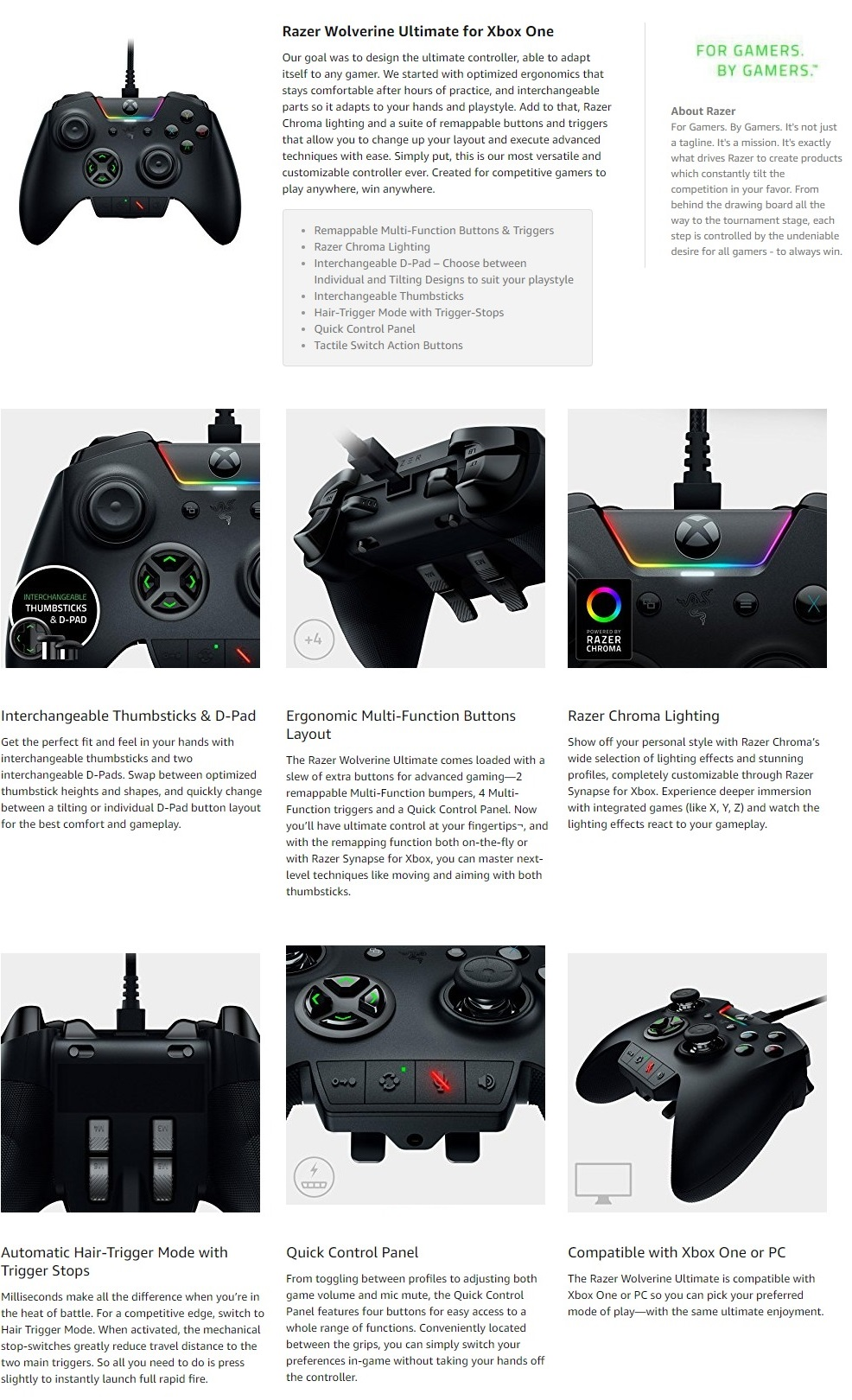 Razer Wolverine Ultimate Controller for Xbox One | BEST