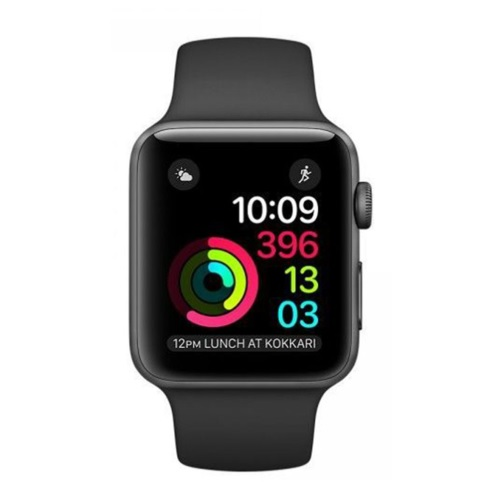 new concept 83cce 44f2a Apple Watch Series 1, 42mm Space Grey Aluminum Case with Black ...